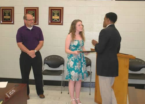 New 30+ Club members recognized at school board meeting
