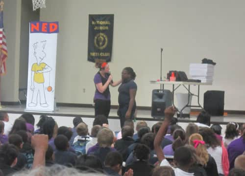 The NED Show entertains Sunny Hill students
