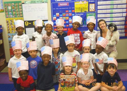 Kindergarten students honor Patriot�s Day