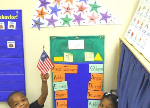 Students create a graph and a flag