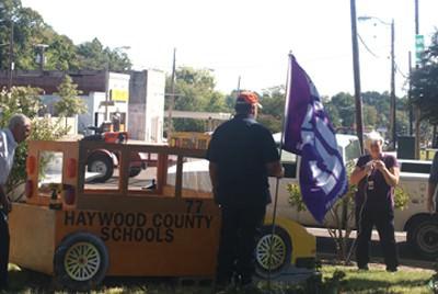 Bus 77 represents Haywood County Schools