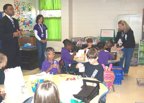 Haywood Elementary students enjoy visitors to the classroom