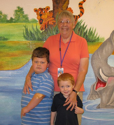 Grandparents and children have fun at Anderson