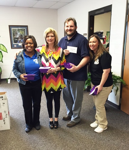 (from left) Krystal Hawkins, Kristie Morris, William Grissom and Rachel Dreyer