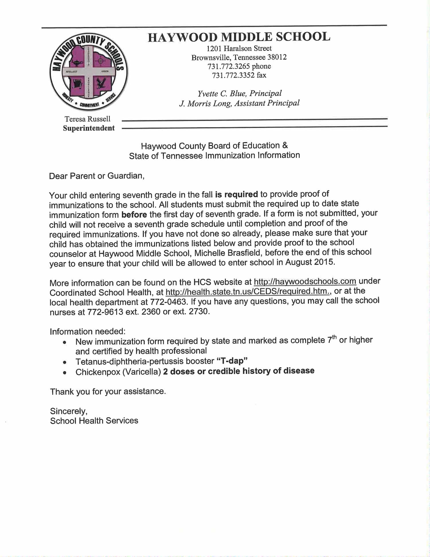 Immunizations Letter - Grade 7 (1)-1