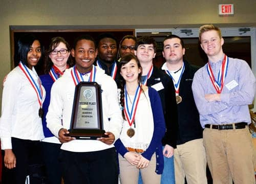 HHS teams place second and third in Tennessee Academic Decathlon state competition