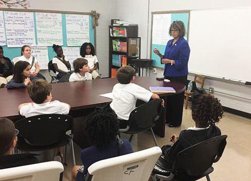 Senator Gresham visits East Side