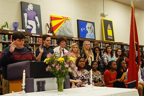 HHS Beta Club inducts new members