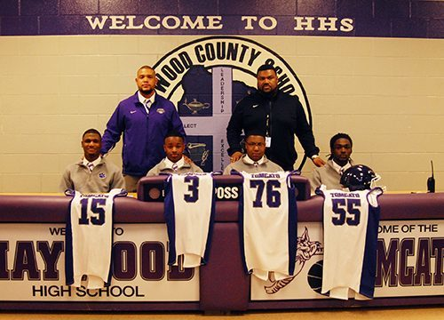Four Tomcats sign to play college football