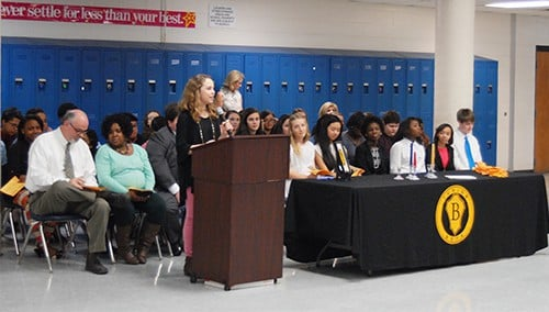 HMS Beta Club inducts new members
