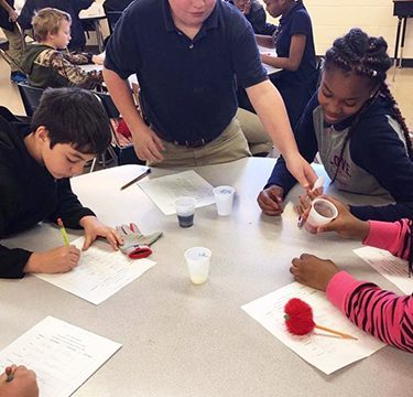 Students learn science lessons