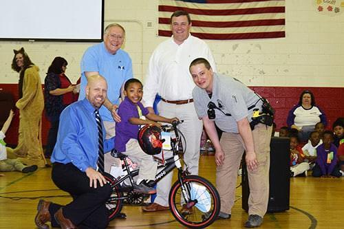 Jalyn Mann wins bike