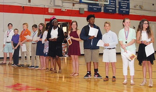 Haywood Middle School holds Academic Awards Program