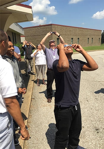 REACH students see Solar Eclipse