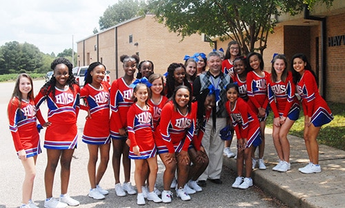 HMS cheerleaders