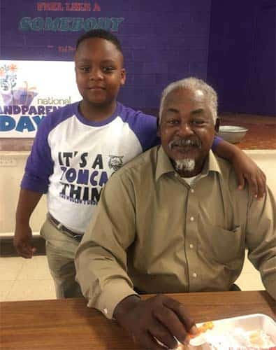 Grandparents enjoy lunch with ES students