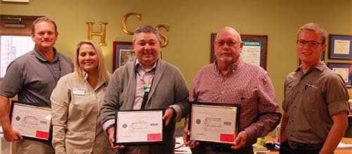 School officials receive Patriot Awards