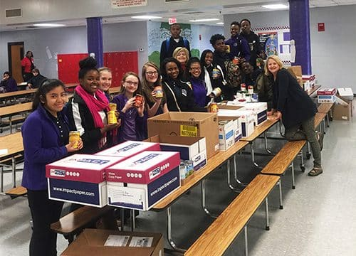 HMS Beta Club collects food