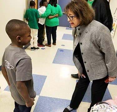 Senator Gresham visits HCS