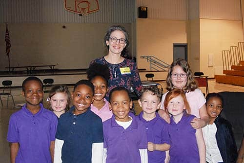 HES students meet Jessica Young