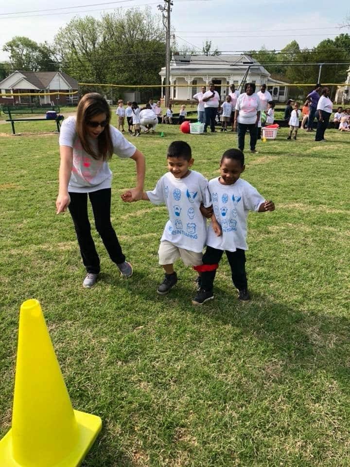 PreK students enjoy Field Day