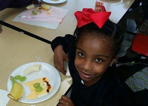 "HES students enjoy ""Pig"" snacks"