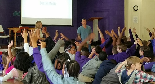 Students learn about social media safety