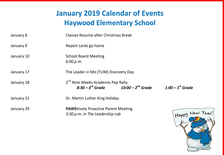 School Calendar Haywood County Schools