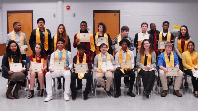 HMS inducts new Beta Club members
