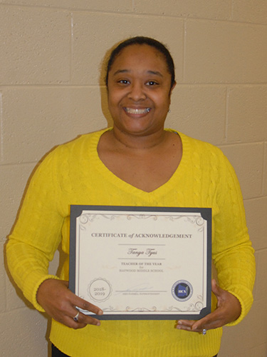 Tanya Tyus – Haywood Middle Teacher of the Year