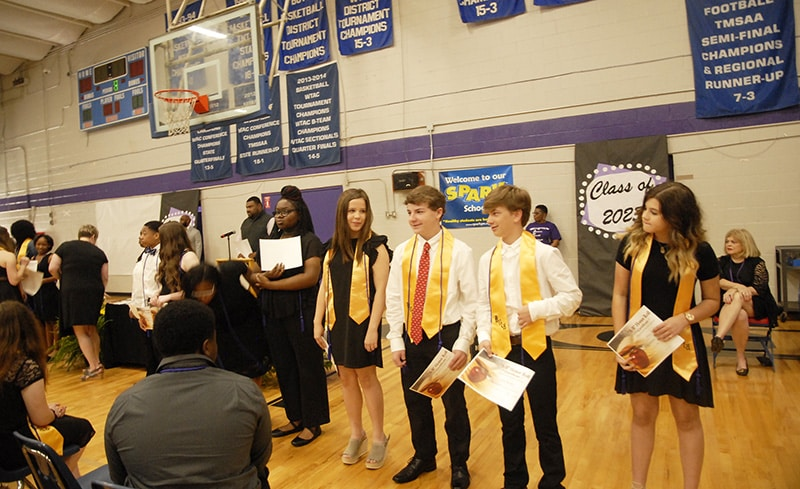 HMS promotes 208 eighth-graders