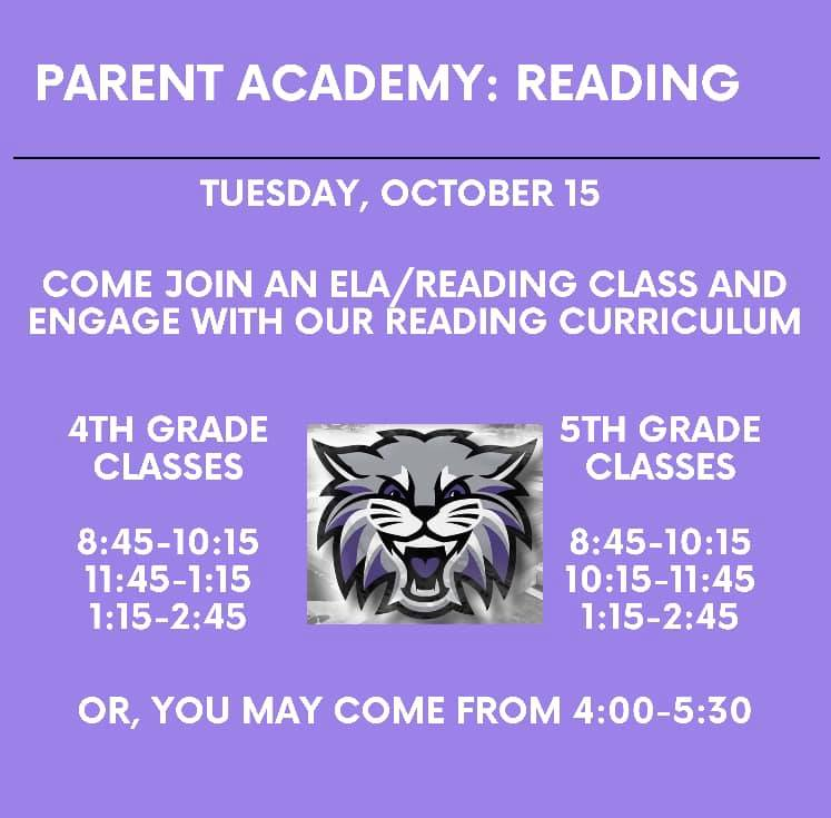 Parent Academy : Reading