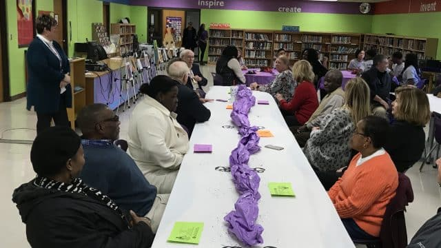 School Board Luncheon at Haywood Middle School