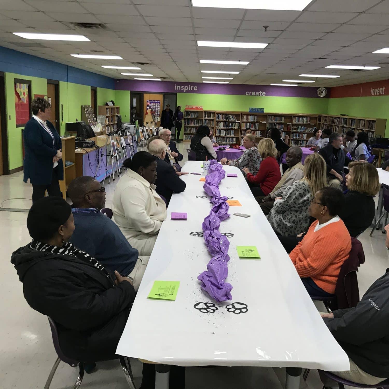 School Board Luncheon at Haywood Middle School