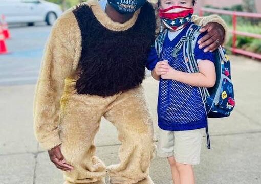 Mr. Cub's surprise visit to Anderson